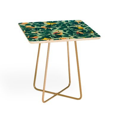 Lemon Pattern Square End Table