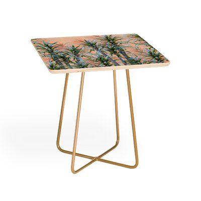 Pastel Palm Trees Square End Table