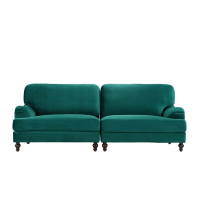 Gayden 2 Piece Convertible Adjustable Modular Sofa Upholstery: Green