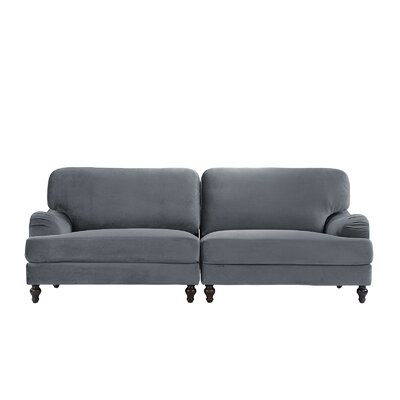 Gayden 2 Piece Convertible Adjustable Modular Sofa Upholstery: Gray