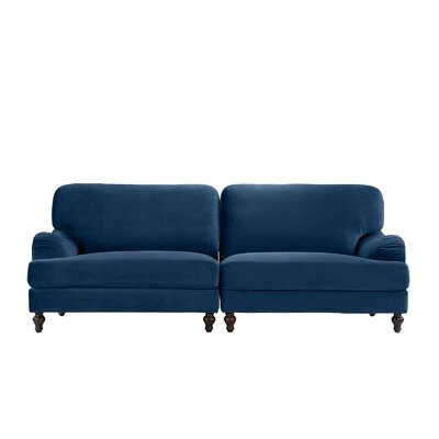Gayden 2 Piece Convertible Adjustable Modular Sofa Upholstery: Navy