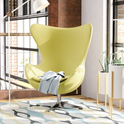 Fernanda Swivel Wingback Chair Upholstery: Citron