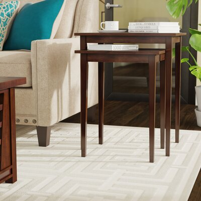 Williams 2 Piece Nesting Tables Finish: Espresso