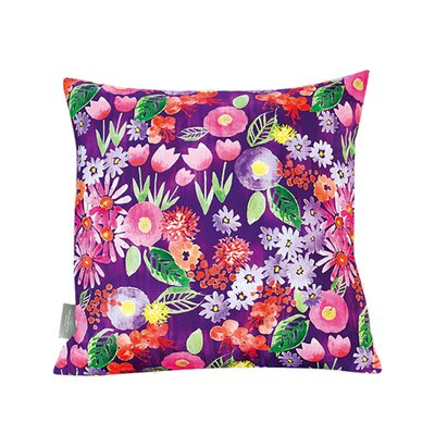 Fiorito Spring Flowers Cotton Throw Pillow