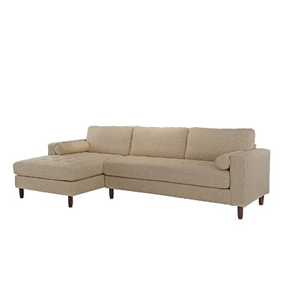 Kevin L-Shape Sectional Upholstery: Beige