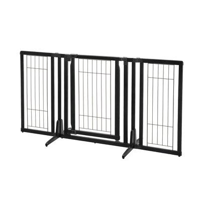 Premium Plus Freestanding Pet Gate Finish: Black