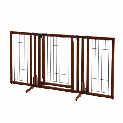 Premium Plus Freestanding Pet Gate Finish: Cherry Brown