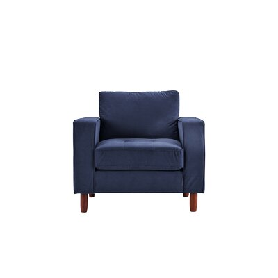 Kevin Armchair Upholstery: Navy