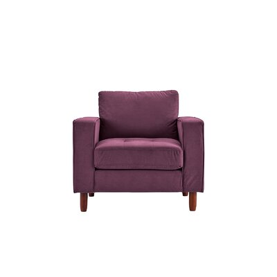 Kevin Armchair Upholstery: Purple