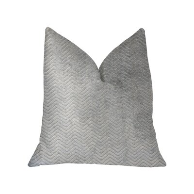 Westbroek Luxury Throw Pillow Size: 18 x 18, Color: Gray/Silver