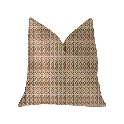 Kruger Luxury Throw Pillow Size: 22 x 22, Color: Orange/Ivory