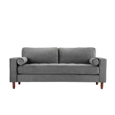Kevin Tufted Sofa Upholstery: Gray