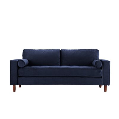 Kevin Tufted Sofa Upholstery: Navy