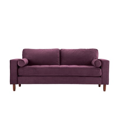 Kevin Tufted Sofa Upholstery: Purple