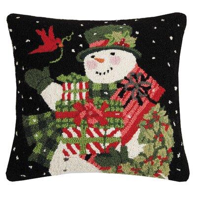Marroquin Snowman Gift Hook Wool Throw Pillow