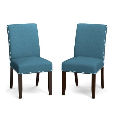 Rech Upholstered Dining Chair Upholstery Color: Blue