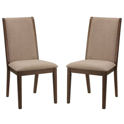 Port Morris Kendall Solid Wood Dining Chair Upholstery Color: Truffle Taupe