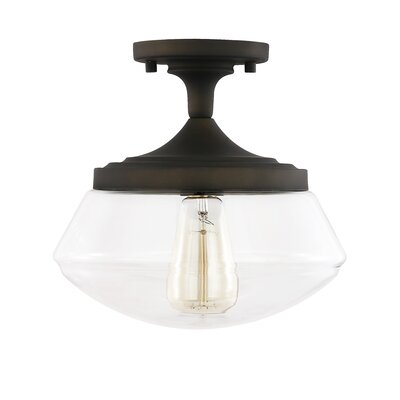 Wiest 1-Light Semi Flush Mount Fixture Finish: Oil Rubbed Bronze