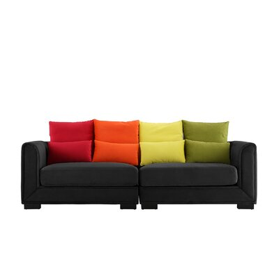Catargiu Convertible Sofa Upholstery: Black
