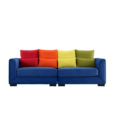 Catargiu Convertible Sofa Upholstery: Dark Blue