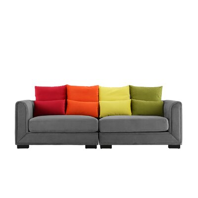 Catargiu Convertible Sofa Upholstery: Dark Gray