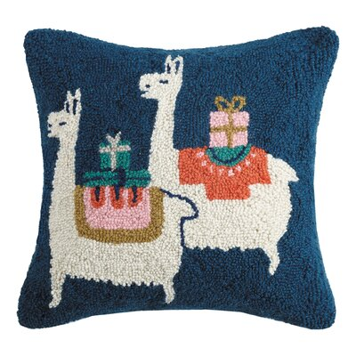Mascorro Presents from Peru Hook Wool Throw Pillow