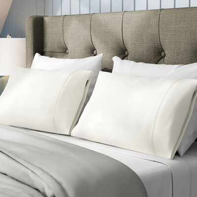 Emerson Cotton Rich 800 Thread Count Solid Pillowcase Size: Standard, Color: Ivory