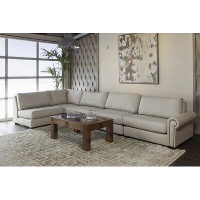 Lebanon Plush Deep Modular Sectional with Ottoman Upholstery: Sand 31D921B7406A486E855BCDBC54C7804D