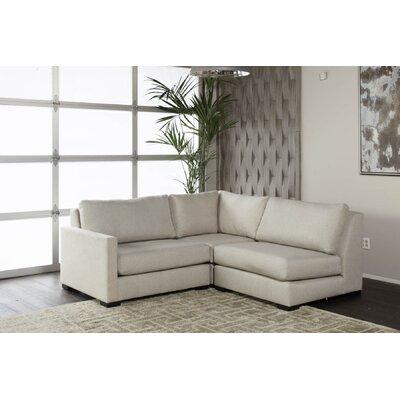 Secrest Plush Deep Modular Sectional Upholstery: Sand, Orientation: Left Hand Facing 73731211F42F48A5833ABC94003D27AE