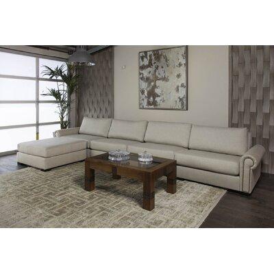 Lebanon Reversible Modular Sectional with Ottoman Upholstery: Sand 42E73CB7B51E48B59D3D02876E81DC15