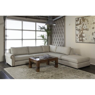 Lebanon Plush Deep Modular Sectional with Ottoman Upholstery: Sand, Orientation: Left Hand Facing 9DE1933FFD094AC6A76C4C69A74420F4