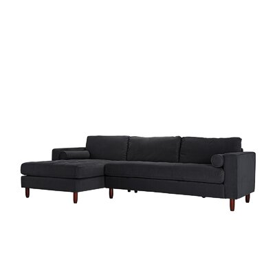 Gayden Tufted Sectional Upholstery: Black