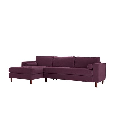 Gayden Tufted Sectional Upholstery: Purple