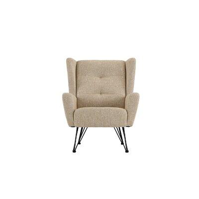 Kevin Shelter Backrest Armchair Upholstery: Beige