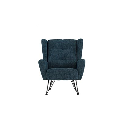 Kevin Shelter Backrest Armchair Upholstery: Dark Blue