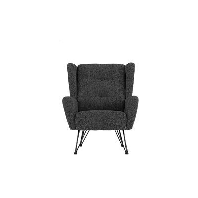 Kevin Shelter Backrest Armchair Upholstery: Dark Gray