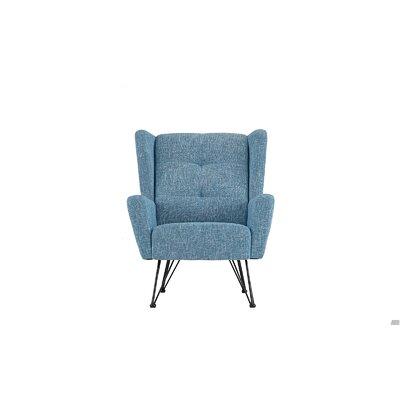 Kevin Shelter Backrest Armchair Upholstery: Light Blue