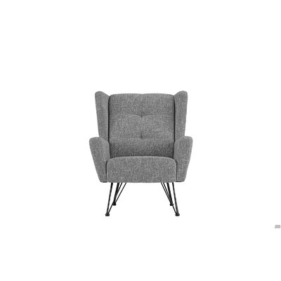 Kevin Shelter Backrest Armchair Upholstery: Light Gray