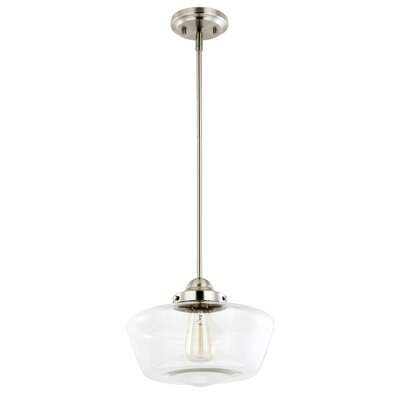 Wiggin 1-Light Mini Pendant Light Shade Color: Clear