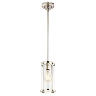 Everhart 1-Light Cylinder Pendant Light