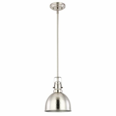 Mcmunn 1-Light Bell Pendant Light Finish: Satin Nickel