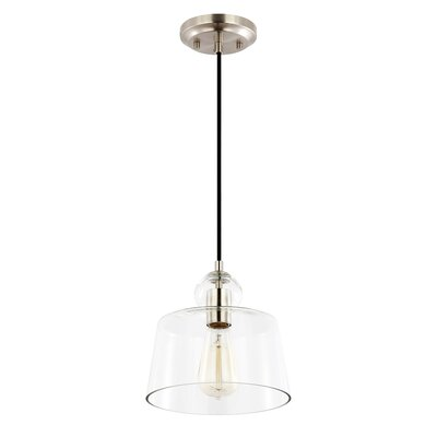 Barkett 1-Light Mini Pendant Finish: Satin Nickel