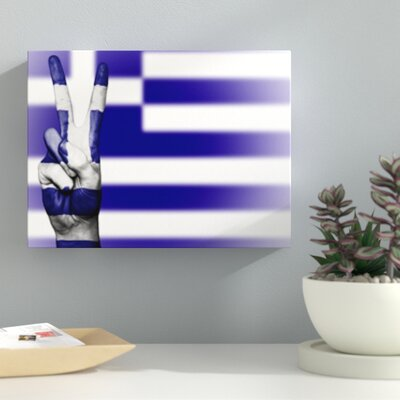 'Greece Flag' Graphic Art Print on Wrapped Canvas 4FE12AF22C7A4EDFAB8729D0A04877F3