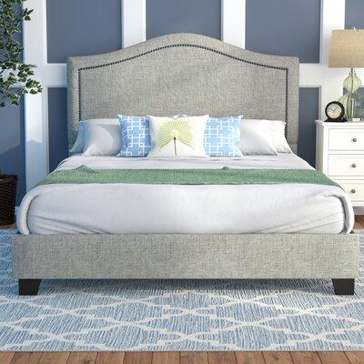 Mellen Upholstered Platform Bed Color: Sandstone, Size: Queen
