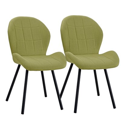 Gibby Upholstered Dining Chair Upholstery Color: Green