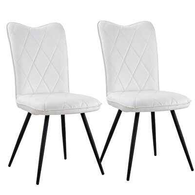 Giblin Upholstered Dining Chair Upholstery Color: White