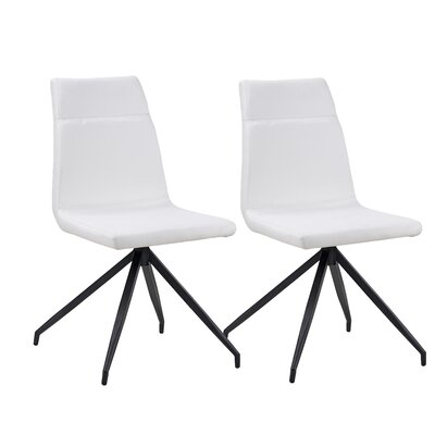 Giancola Upholstered Dining Chair Upholstery Color: White