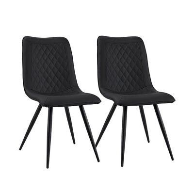 Giancola Upholstered Dining Chair Upholstery Color: Black
