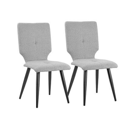 Earleton Upholstered Dining Chair Upholstery Color: Light Gray