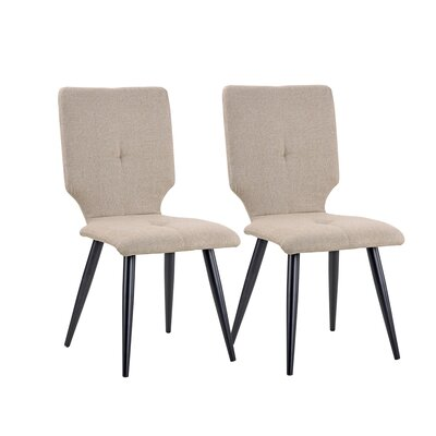 Earleton Upholstered Dining Chair Upholstery Color: Beige